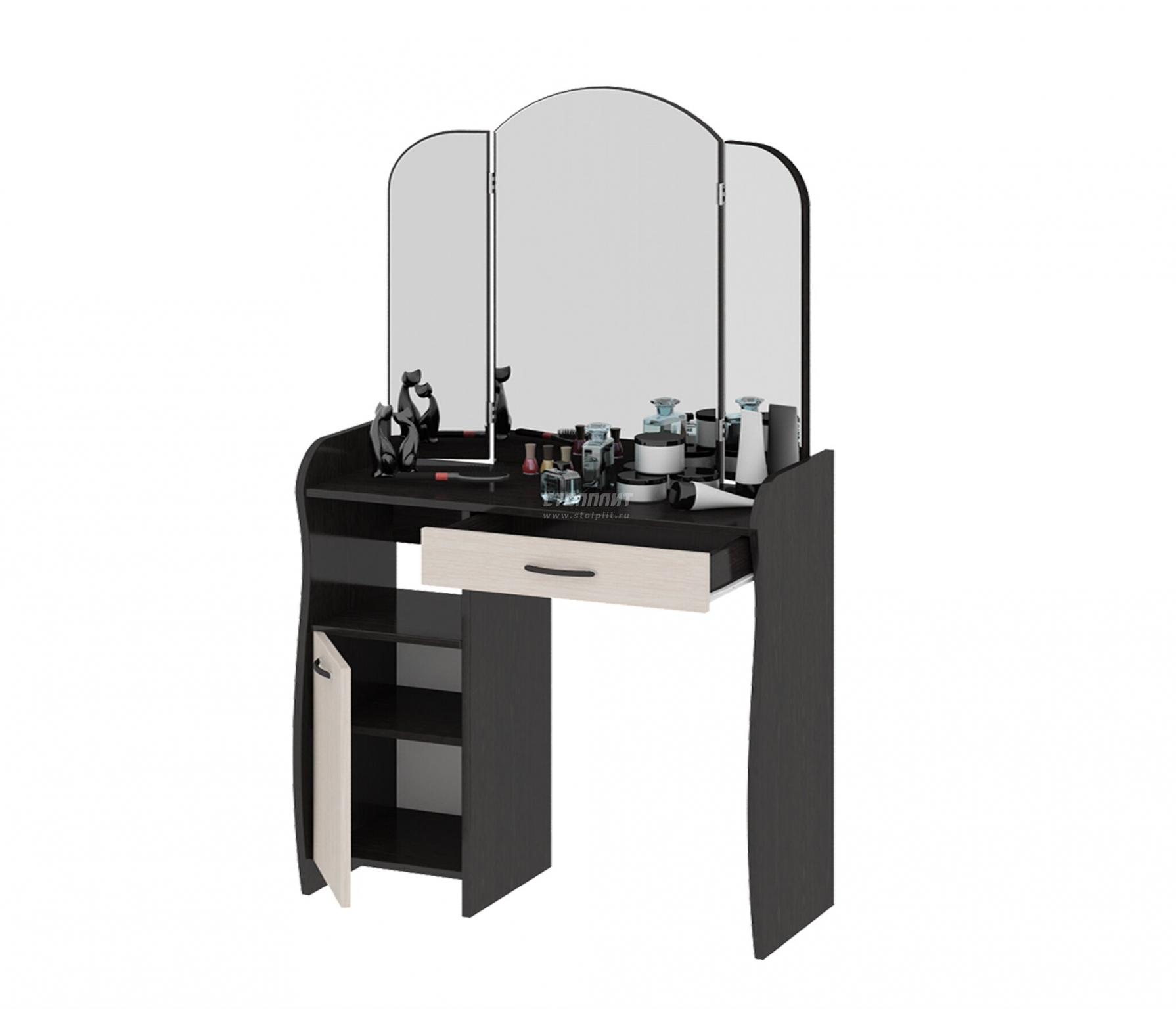 Столики для косметики с зеркалом купить в спб от производителя недорого косметика для макияжа глаз купить